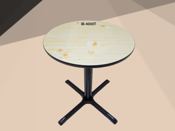 Table with straight stands IB-4000T_Beige
