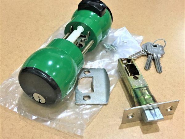 Lockset Green Coating